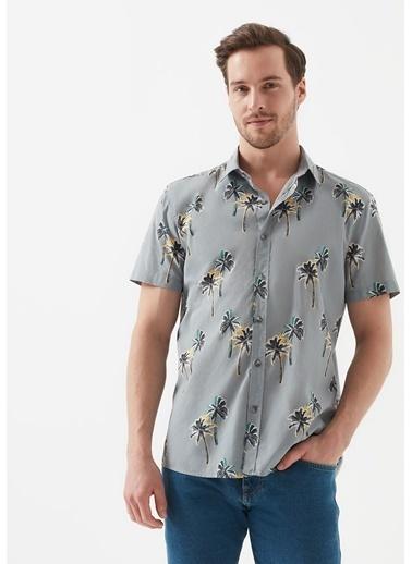 Mavi Erkek  Tropikal Desenli Gömlek 021511-31349 Gri